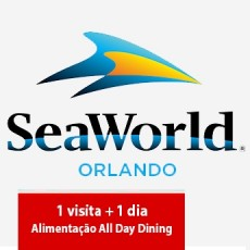 SeaWorld Parks - 1 visita + All Day Dining Deal (Ingresso Eletrônico)